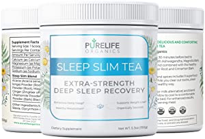 PureLife Organics - Sleep Slim Tea - Deep Sleep Recovery - 5.3 oz. - Eliminate Late Night Cravings, Experience More Restful Sleep, Increase Metabolism Naturally