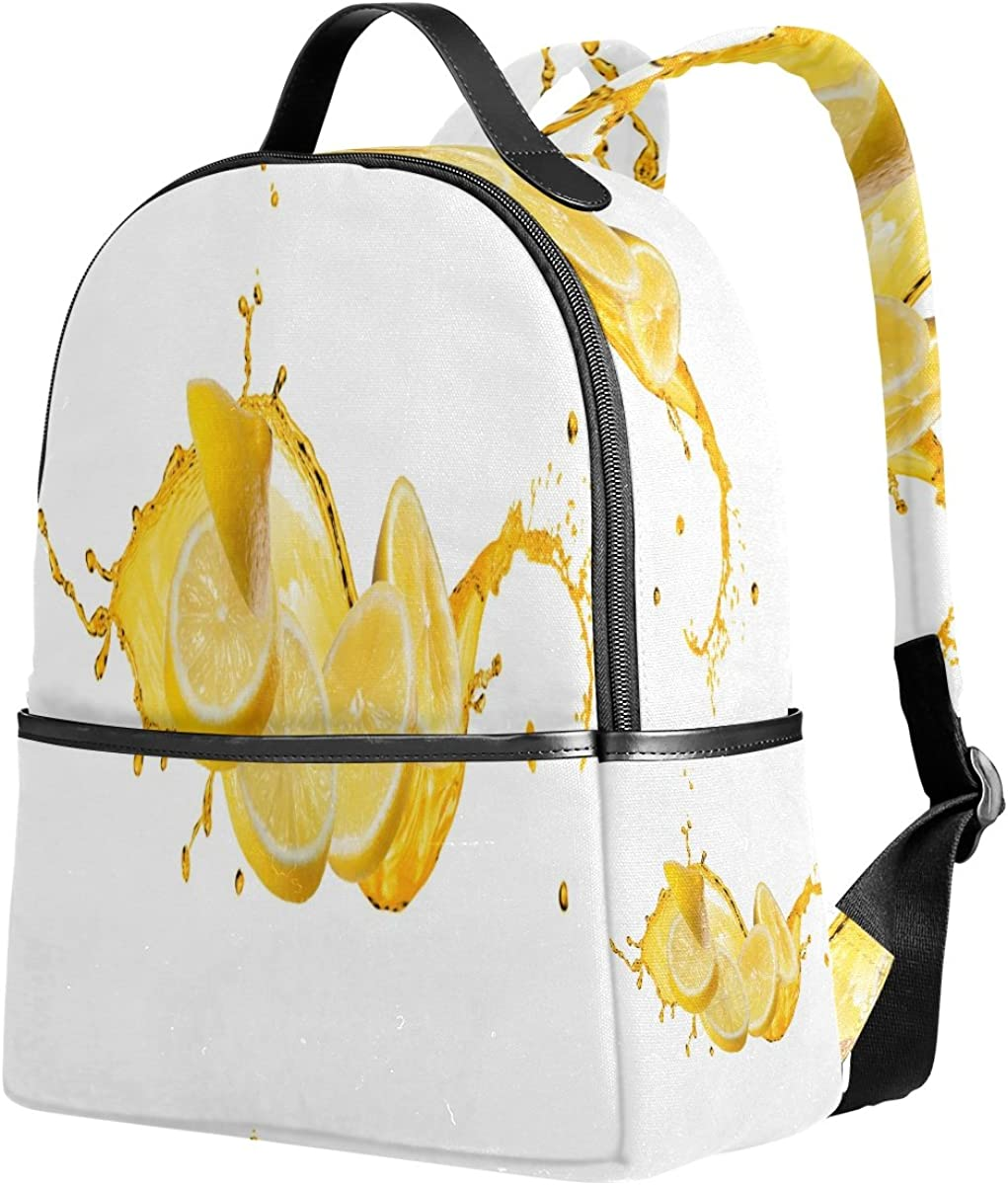 Mr.Weng Lemon Puzzle Printed Canvas Backpack For Girl and Children