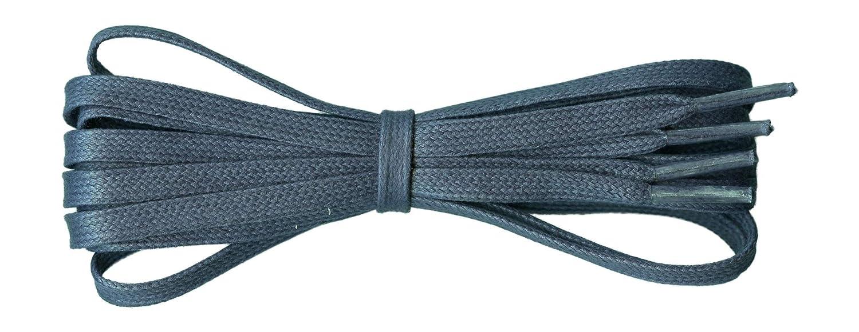 Fabriqu/é en Angleterre 6 mm plat Id/éal pour les chaussures de sport et de loisirs 11 couleurs Lacets de coton cir/é Longueurs de 45 /à 140cm