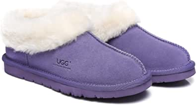 UGG Slippers Australian Premium Soft Sheepskin Wool Women's Slipper Winter Home Cozy Moccasins Shoes