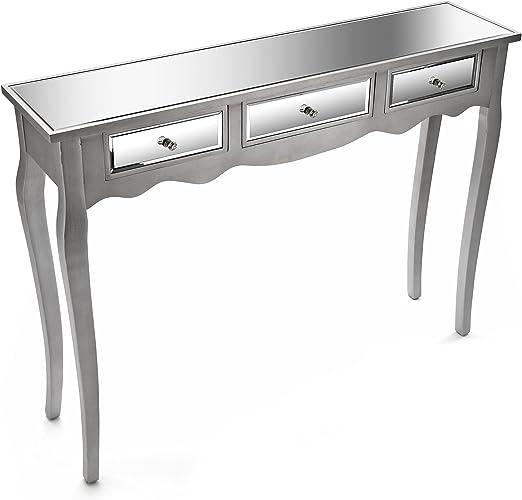 Versa Mueble Espejo Mesa de Entrada Recibidor Consola Marsala ...