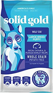 product image for Solid Gold - Wolf Cub with Real Bison and Oatmeal - Natural Large Breed Puppy Food - Potato Free - DHA and Calcium Support - Dry Dog Food for Puppies