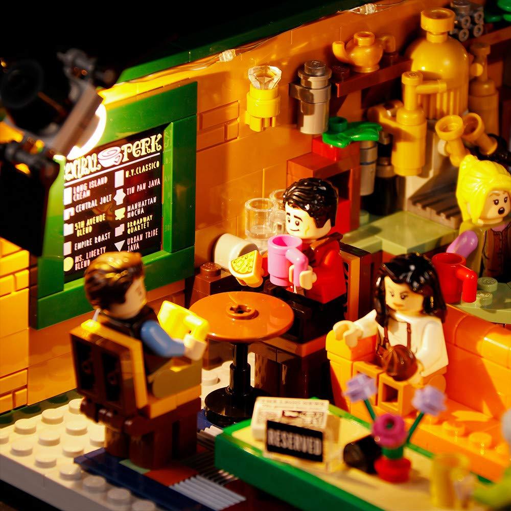 Vonado Led Lighting Kit for Lego 21319 Central Perk Ideas Series Lighting Group Building Blocks Bricks Toys Gift to Friends Adult Boys and Girls Festival Christmas Not Include The Lego Set