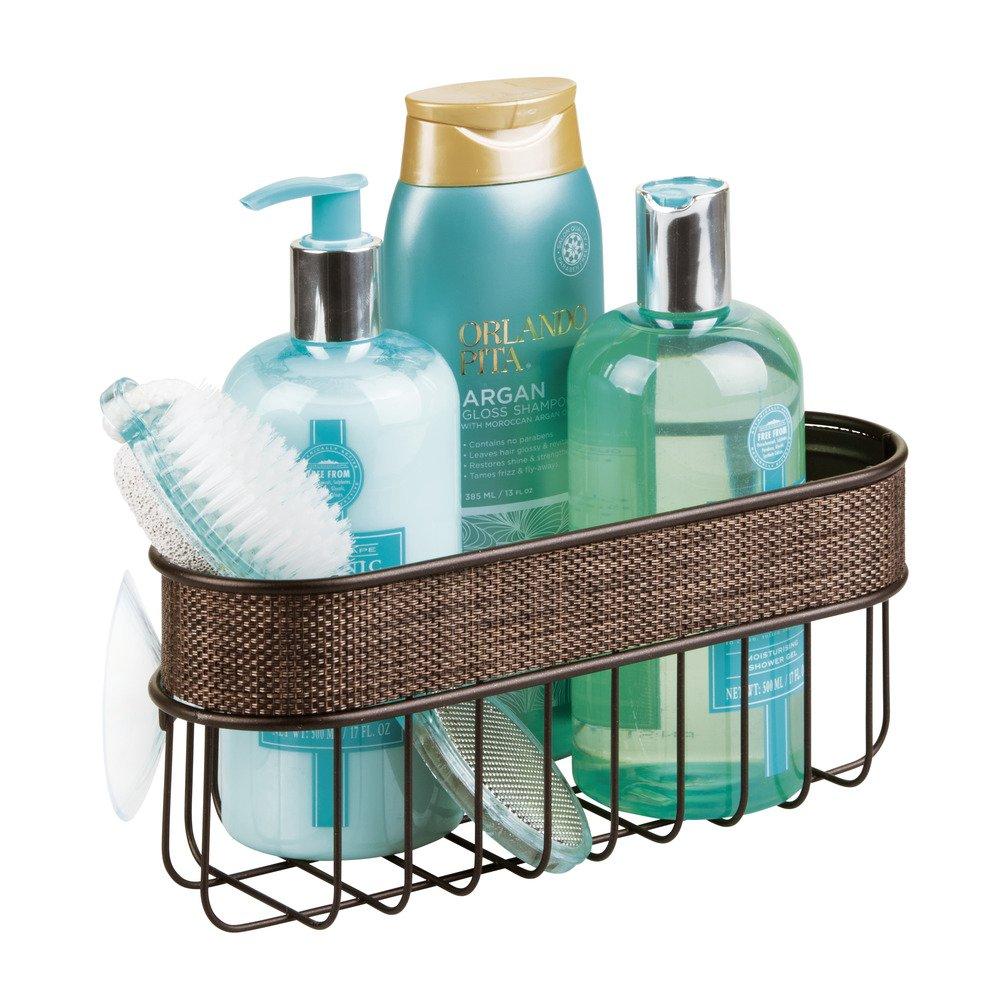 Amazon.com: InterDesign Twillo Suction Bathroom Shower Caddy Corner ...