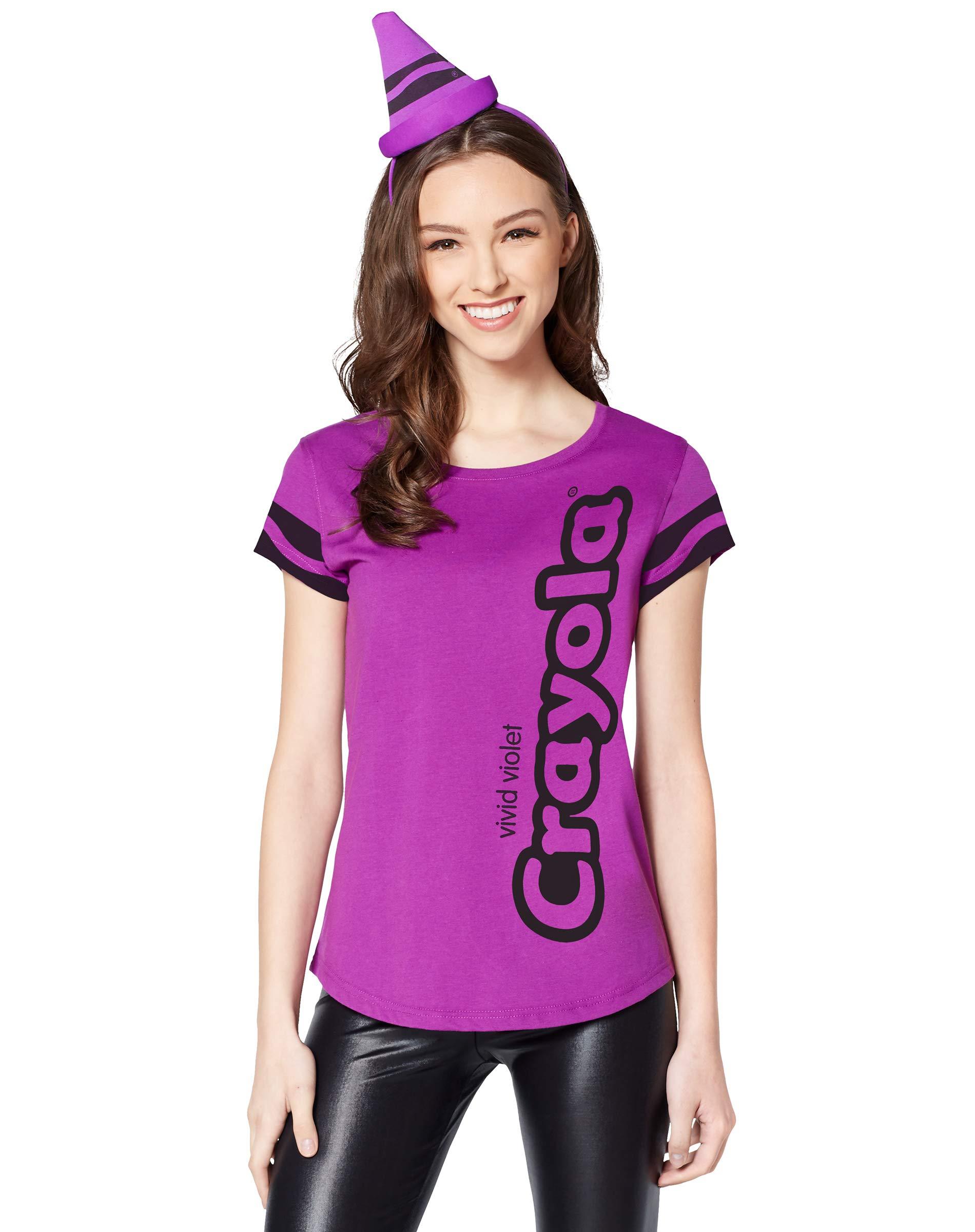 Spirit Halloween Adult Women's Vivid Violet Crayon Costume Kit - Crayola