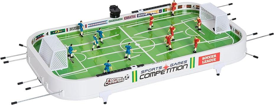 HOMCOM Set Fútbol Sobremesa Juego Mesa de Fútbol con Jugadores Móviles Futbolín para Niño +3 Años y Adultos 93.5x51x16.5cm PP: Amazon.es: Juguetes y juegos