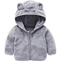 Peecabe - Sudadera con capucha con diseño de orejas de oso y forro polar para bebés y niñas