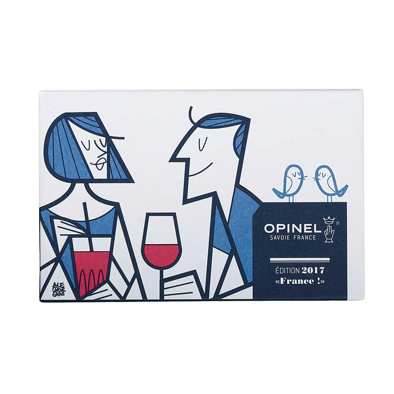 Opinel Unisex Adulto n./º 8 Azul//Rojo//marr/ón 19.5
