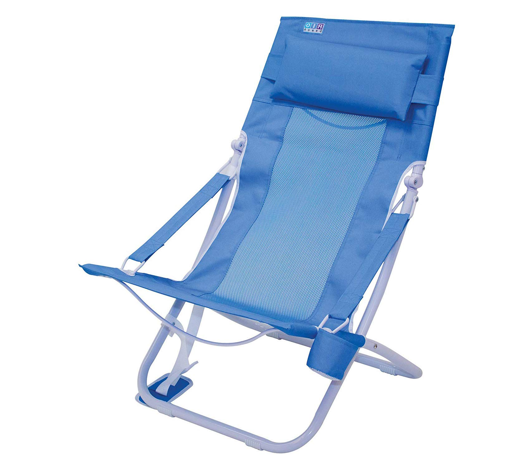 Wood & Style Patio Outdoor Garden Premium Rio Beach Portable Compact Fold Breeze Beach Sling Chair