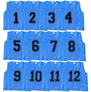 18cc157b1b1 Athllete Set of 12 - Scrimmage Vest Pinnies Team Practice Jerseys with Free  Carry