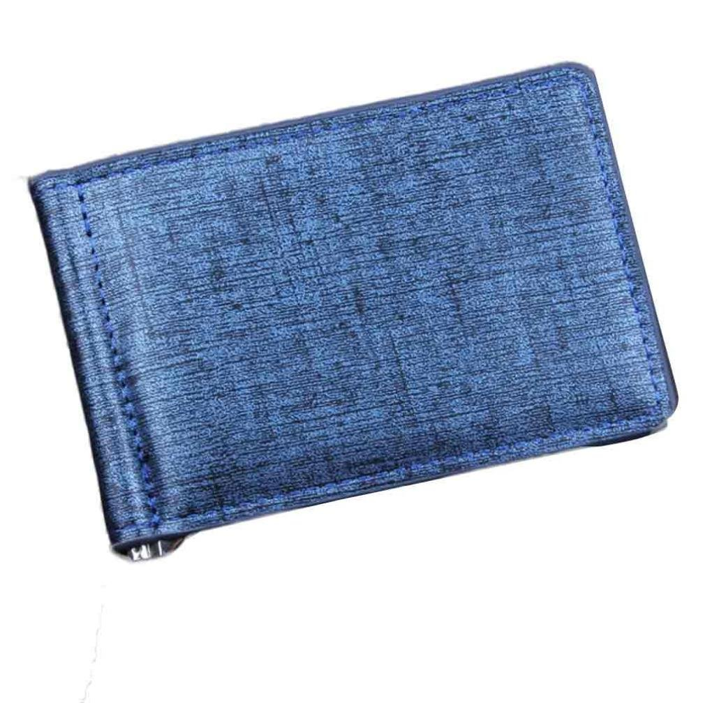 Man Wallet Small Leather Wallets Fashion Purse Blue for Gentlemen by TOPUNDER L