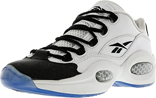 ff5a0f98 Reebok Boys Question Low R13 Sneakers with Ice Sole Grade School White Black