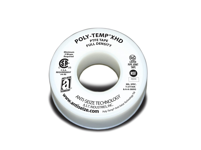 ANTI-SEIZE TECHNOLOGY 46235 White PTFE Poly-Temp Extra Heavy Duty Tape, 520