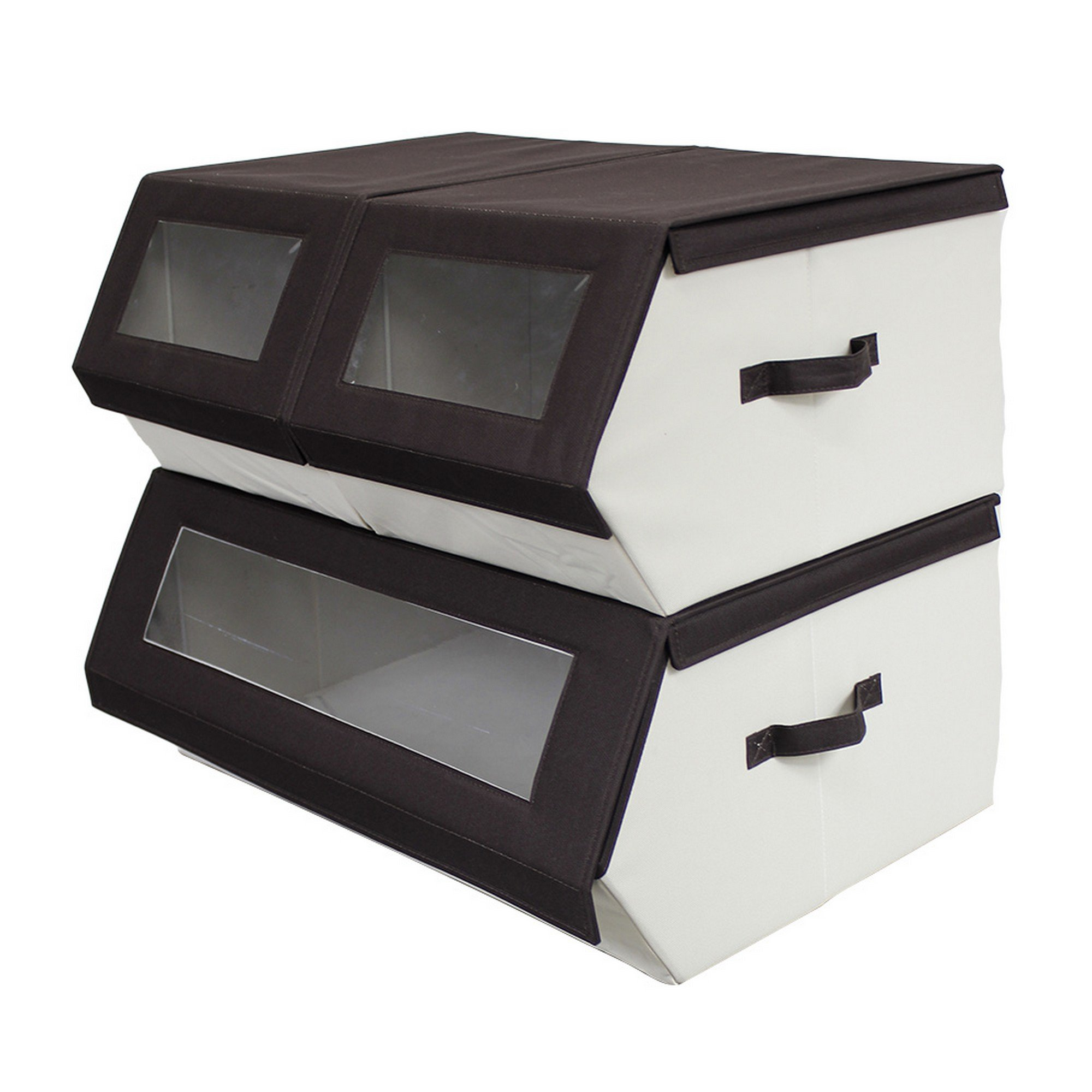 Nouvelle Legende Closet Organizer Easy Storage Bins Collapsible Compartments Set of 3 Pieces
