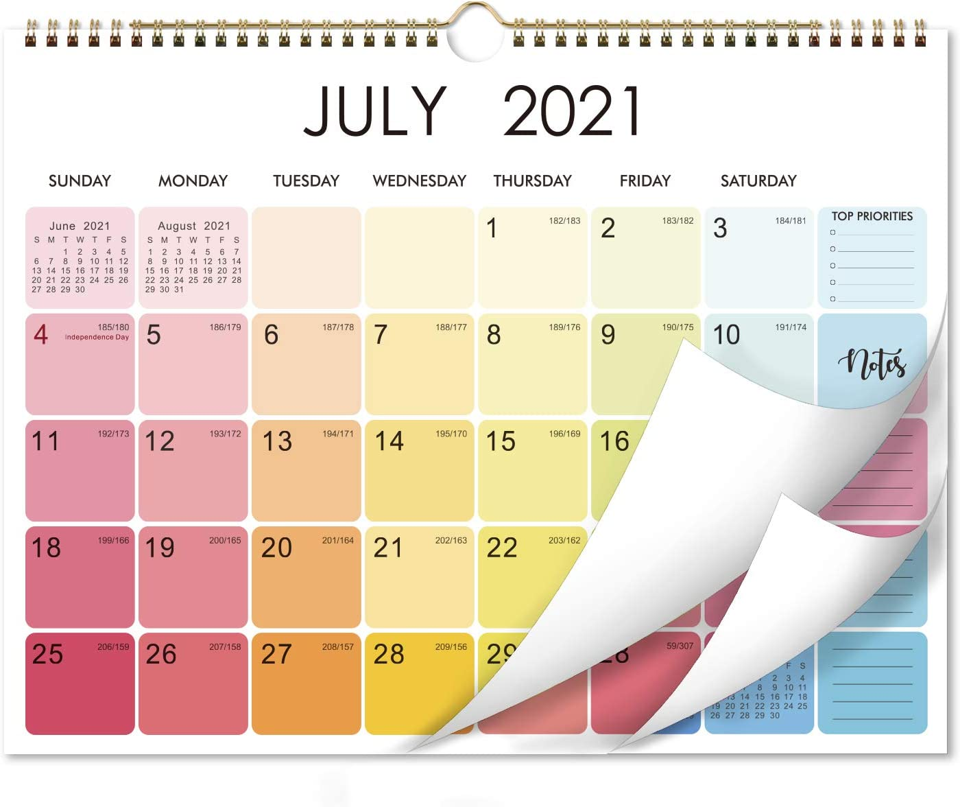 Us Shopping Sales Calendar 2022.Amazon Com 2021 2022 Calendar 18 Monthly Wall Calendar With Thick Paper 15 X 11 5 Jul 2021 Dec 2022 Two Wire Binding Blank Blocks With Julian Dates Hanging Loop Office Products