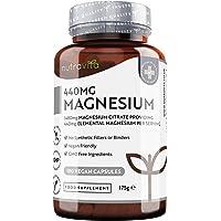 Citrato de Magnesio 1480mg que Proporciona 440mg Alta Dosis de Magnesio Elemental…