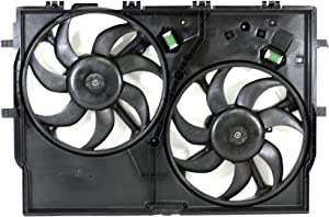 Dual Radiator and Condenser Fan Assembly - Cooling Direct For/Fit CH3115186 14-18 RAM Promaster Cargo Van 3.6L V6 WITH A/C