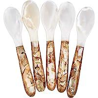 DUEBEL Juego de 5 Cucharas/Tenedor de Nácar (12.5cm