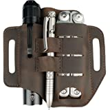 VIPERADE PJ13 EDC Leather Sheath, Knife Belt Sheath/Leather Flashlight Holster/for Leatherman Multitools Sheath, Handmade 3 P