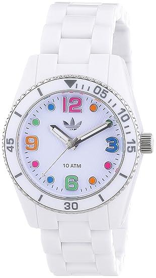 adidas Brisbane - Reloj de cuarzo para mujer, con correa de nailon, color blanco: Amazon.es: Relojes