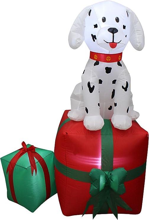 Amazon.com: 5 pies de altura de Navidad inflable Dalmatian ...