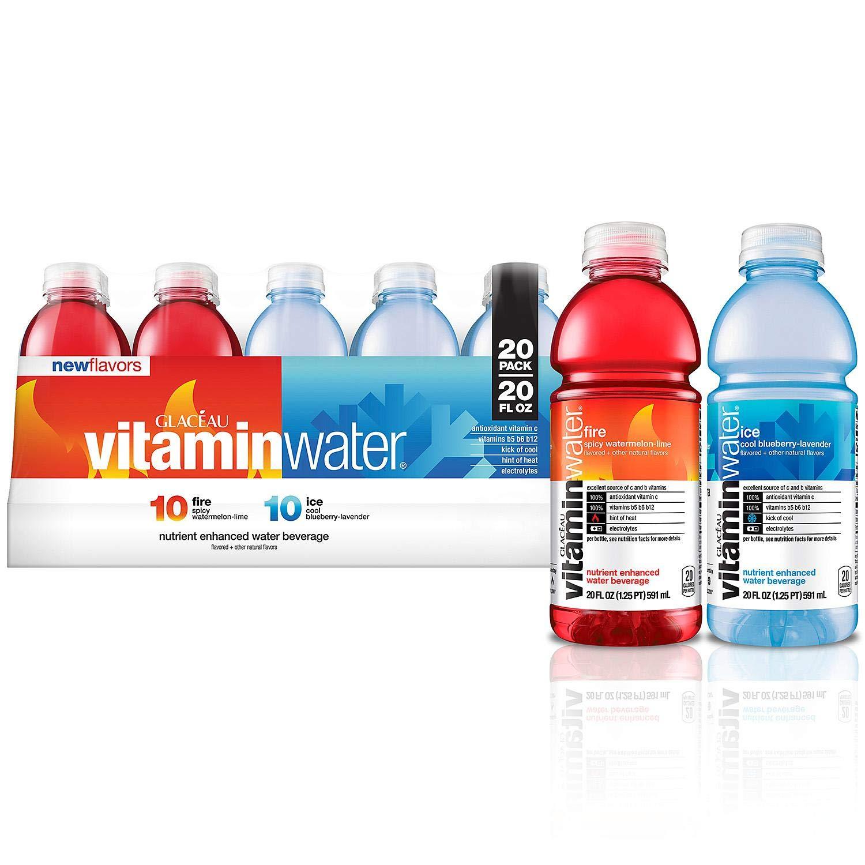 Glaceau Vitaminwater Glaceau Vitaminwater Fire & Ice (20 oz., 20 pk.), 400 fl. oz.