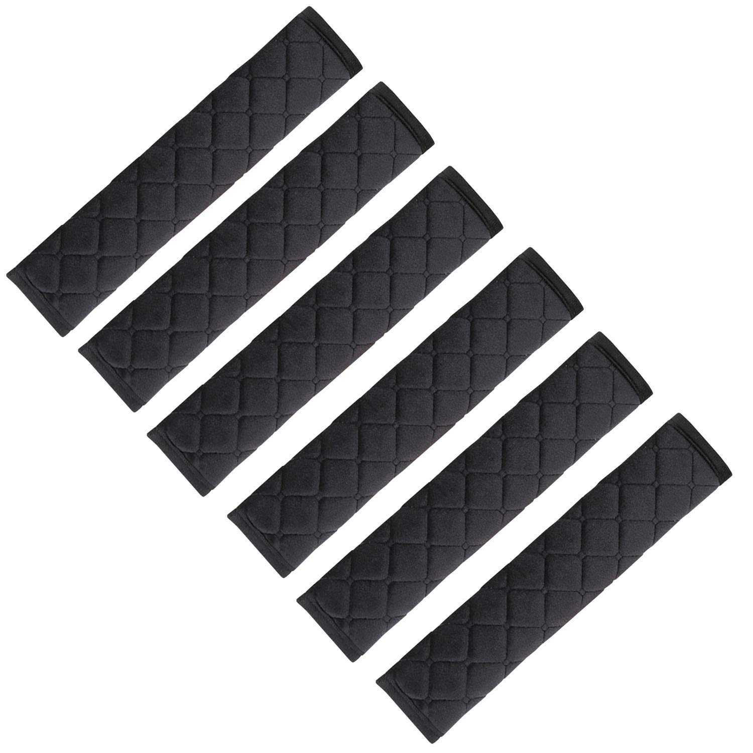 Black NEPAK 6 Pack Universal Car Seat Belt Pads Cover,Seat Belt Shoulder Strap Covers Harness Pad for Car//Bag,Protect Your Neck and Shoulder from The Seatbelt Rubbing//Lrritation