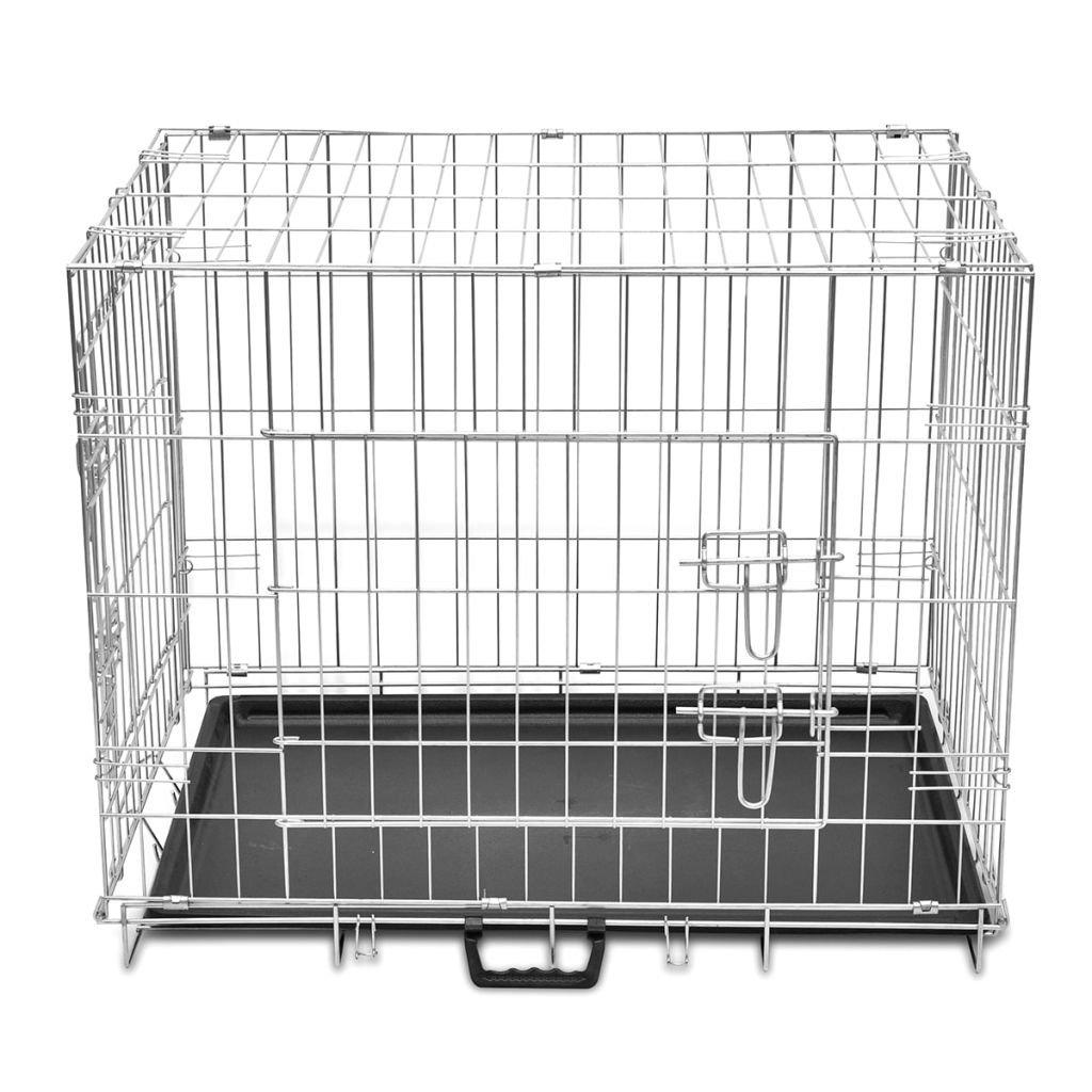 vidaXL Jaula de Perro Plegable de Metal M Transportín Transporte Viaje Mascota: Amazon.es: Productos para mascotas