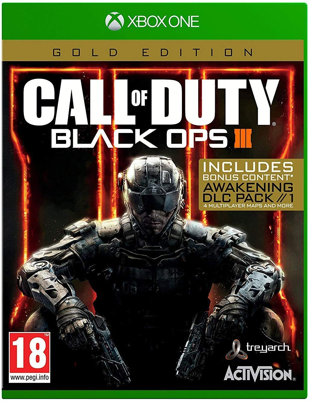 Amazon Com Call Of Duty Black Ops Iii 3 Gold Edition Xbox One