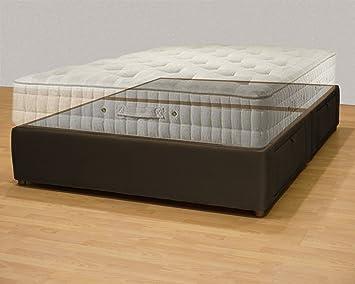 Plataforma cama queen/king size cama de almacenamiento/tapizado de almacenamiento Caja de colchón: Amazon.es: Hogar