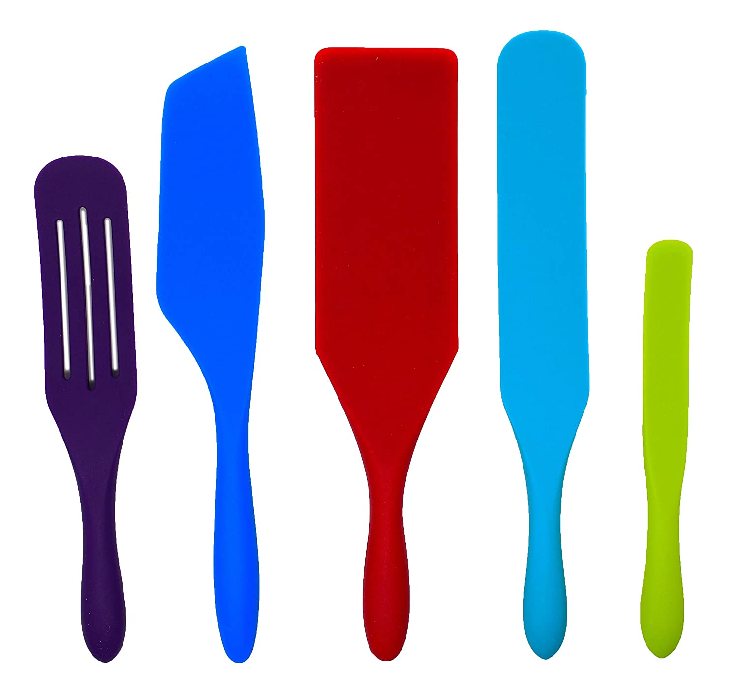 Multicolor Mad Hungry 5 Piece Spurtle Nonstick Silicone Set