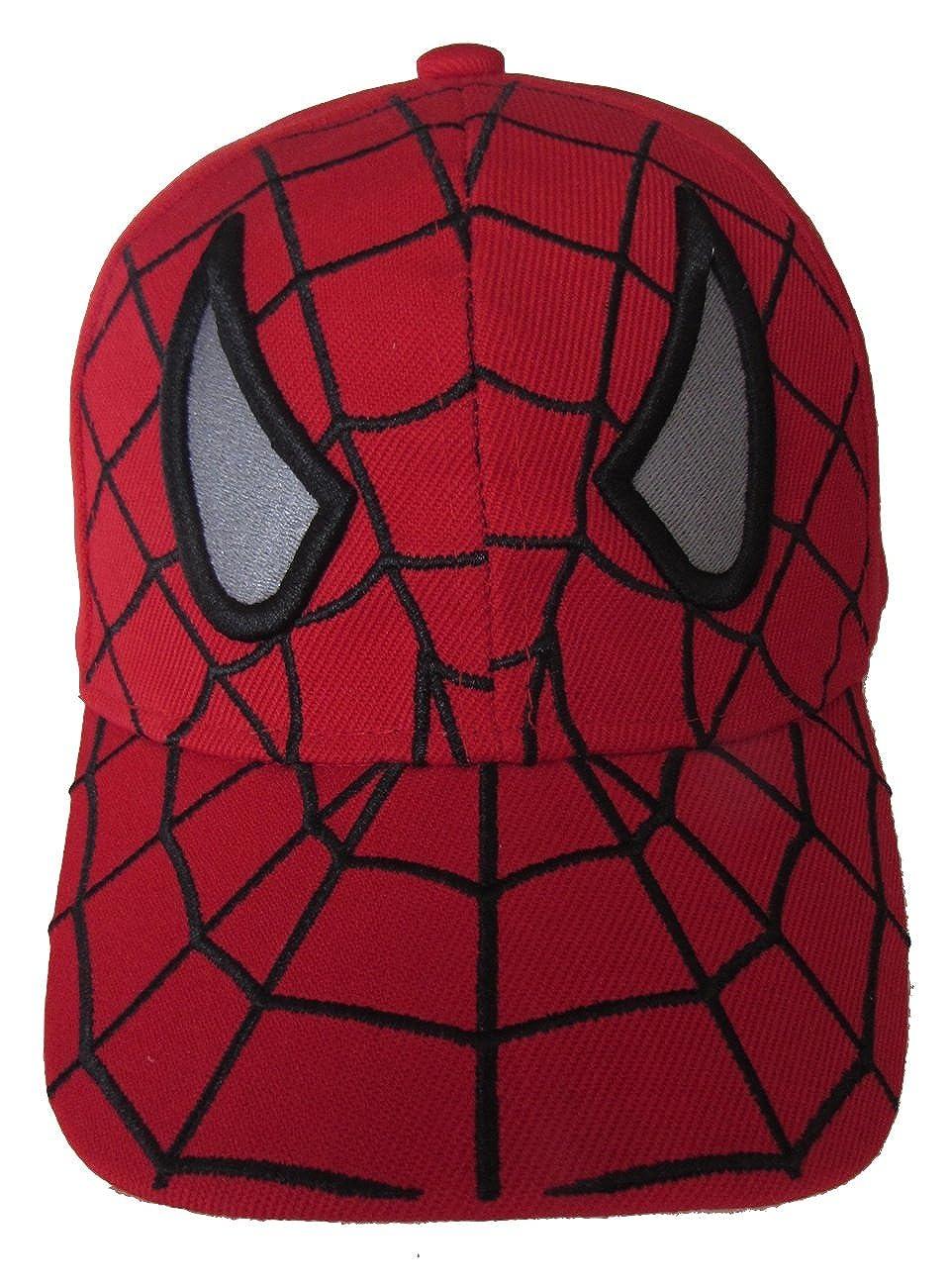 3eafef00ba1 Amazon.com  Kid s Youth Spider Man Hat - Adjustable Baseball Cap (Black  Spider)  Clothing