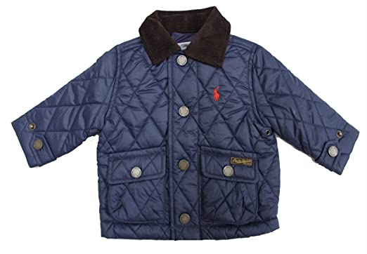 495dfa6a5 Image Unavailable. Image not available for. Color: RALPH LAUREN Baby Boy  Quilted Barn Jacket French Navy Blue ...