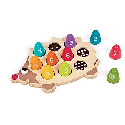 Janod Wooden Number Hedgehog Playset: Toys & Games