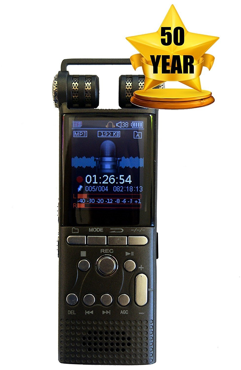 Cellphone and Landline Call Recording | Digital Voice Sound Recorder | For Smartphone and Celphone | Phone Audio Recorders | 50 Year Warranty by Techerific