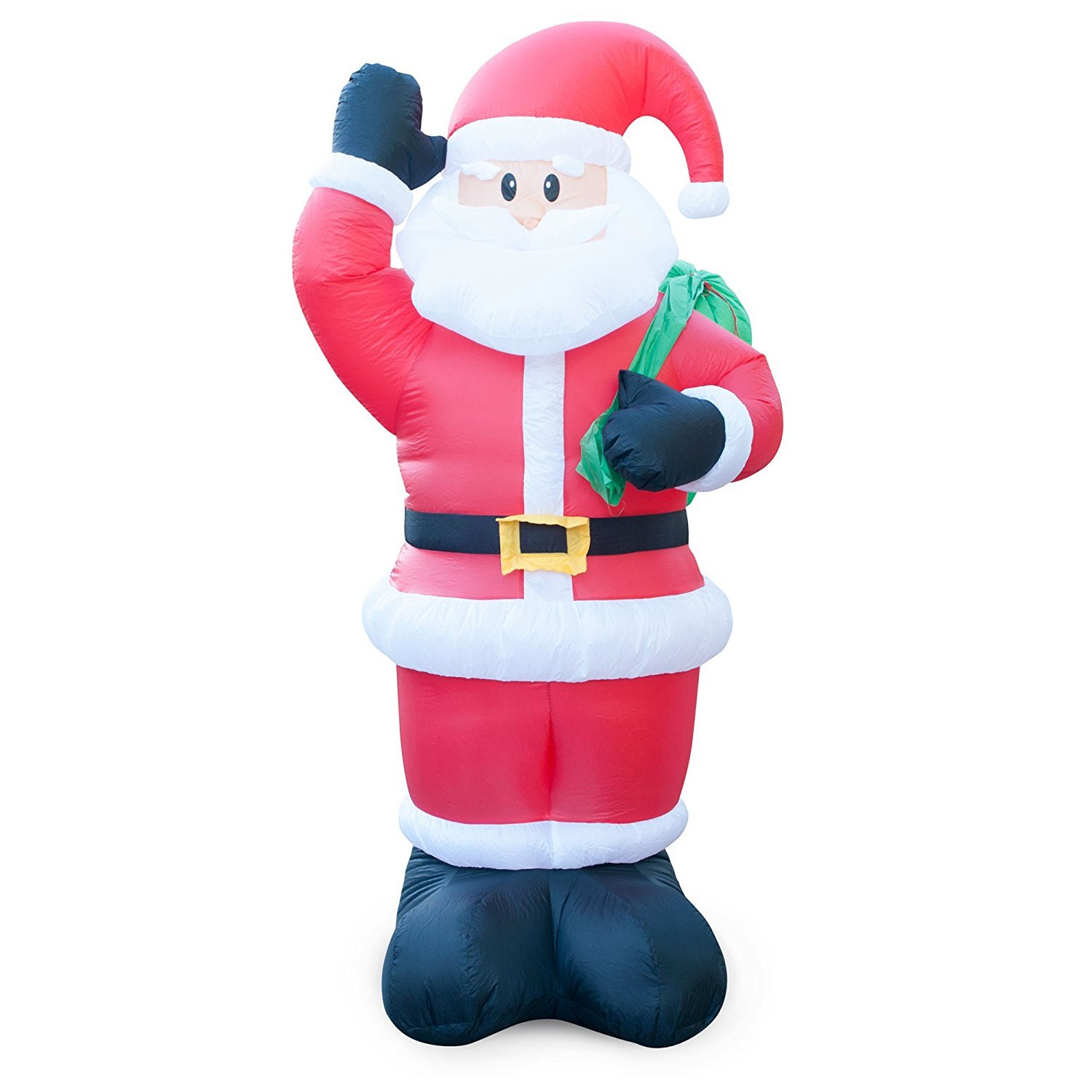Holidayana 8 Ft Animated Waving Santa Inflatable Christmas Lawn Decoration