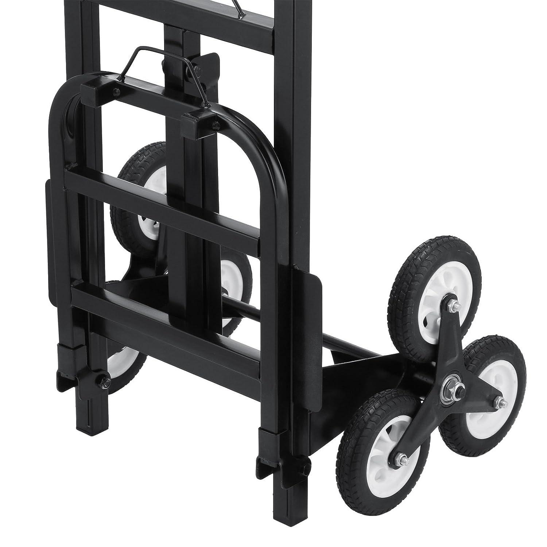 OldFe Capacit/à 190kg Carrello Pieghevole Per Scale Con 6 Ruote Carrello Trasformabilble Per Scale In Acciaio Carrello Per Scale 6 Ruote Portapacchi Manuale Da Trasporto Montascale Scale