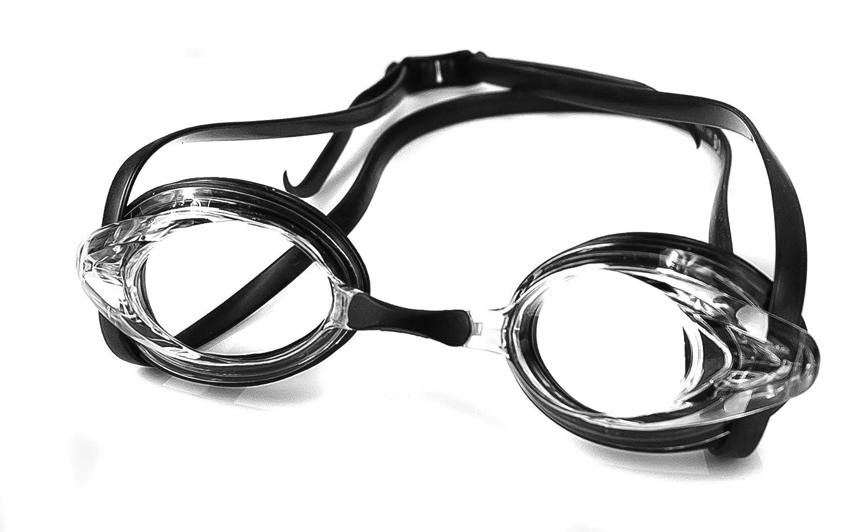 Aqua Speed Uomo 5908217651228Chiara Visione Lente Ottica occhialini da Nuoto, Nero, Taglia Unica