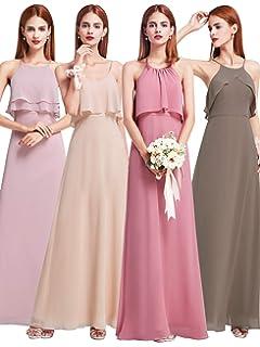 Every Pretty Womens Floor Length A Line Chiffon Long Bridesmaid Dresses 07131