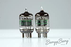 Matched Pair General Electric 5670 / 2C51 / 6N3 Black Plate Vintage Audio Tube Valve - BangyBang Tubes