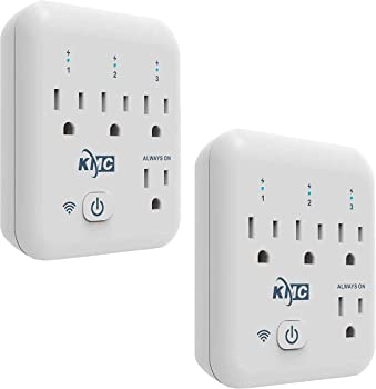 2-Pack KMC 4-Outlet Energy Monitoring Smart WiFi Plug