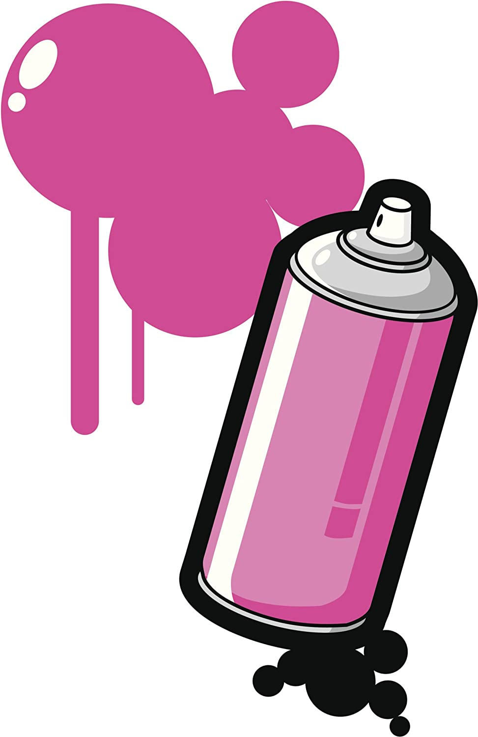 Amazon com: SPRAY PAINT CAN WITH BUBBLES GRAFFITI PINK BLACK