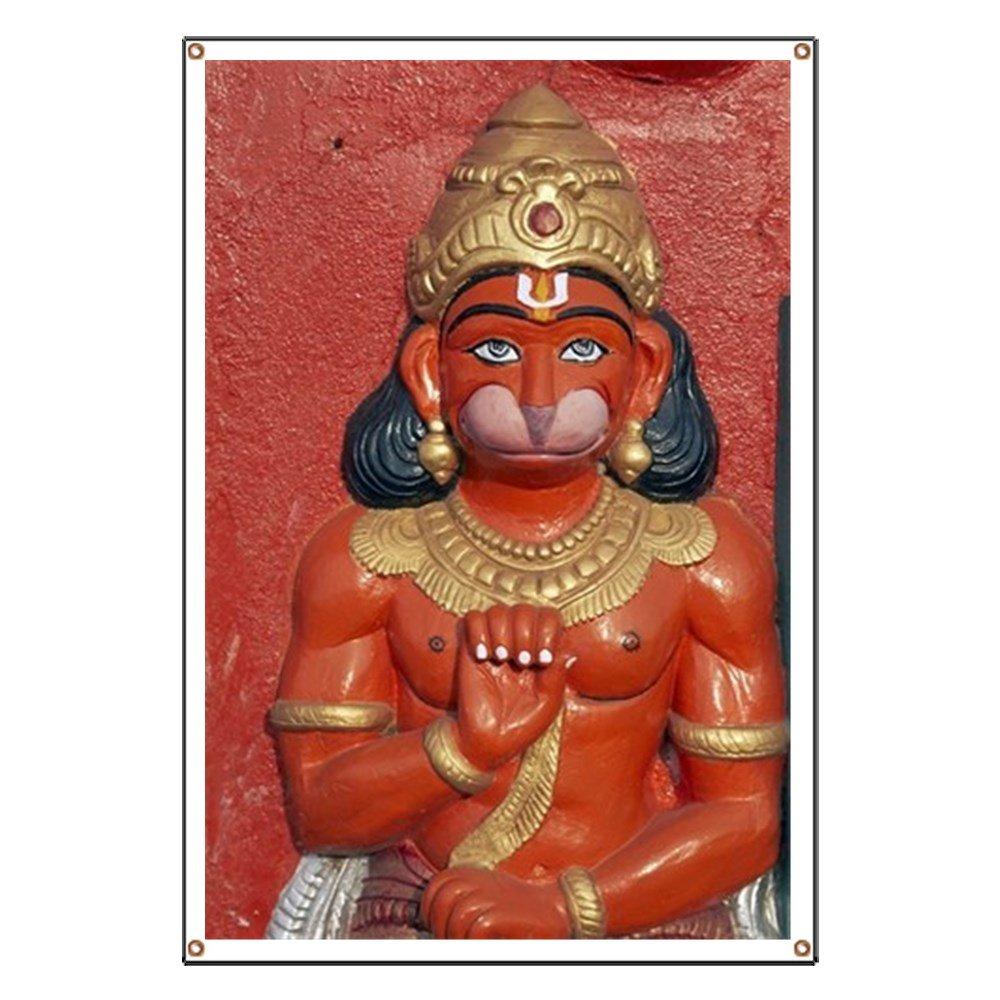 CafePress Hindu Monkey God - Vinyl Banner, 44''x30'' Hanging Sign, Indoor/Outdoor