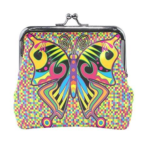 COOSUN Mariposa de Color al Estilo Hippie de Piel Moneda del ...