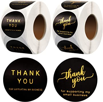 Personalised Business Name Stickers Thank You Seals Your Logo Labels Address 130