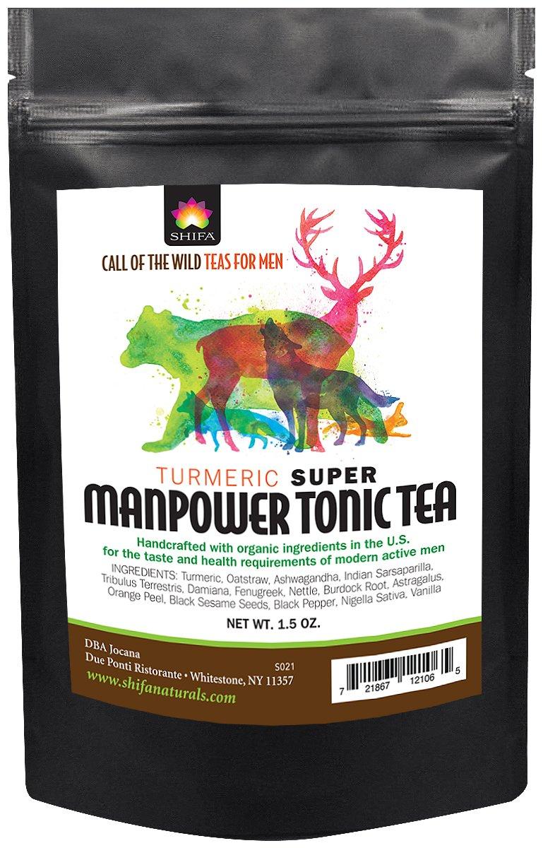 Shifa Turmeric Super Manpower Tonic Tea with Herbs, Phytonutrients and Antioxidants (1.5 oz.)