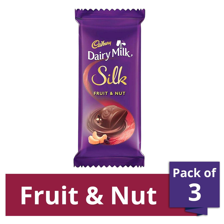 Cadbury Dairy Milk Silk, Fruit and Nut, 137g (Pack of 3)