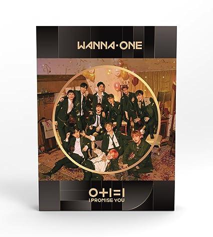 YMC Entertainment WANNA ONE - 0+1=1 I PROMISE YOU (2nd Mini Album) [Night  ver ] CD+Photobook+Photocard+Mirror Card+Tazo+Folded Poster