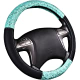 NEW ARRVIAL - CAR PASS Delray Lace and Spacer Mesh Steering wheel covers universal for vehicles,Suv (Mint)