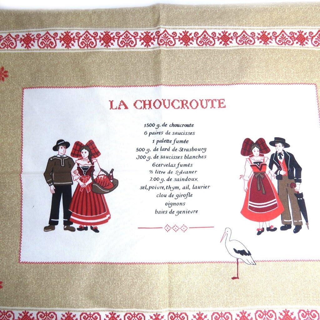 La Choucroute /écru Torchon cr/éateur Alsace Les Tr/ésors De Lily L1417